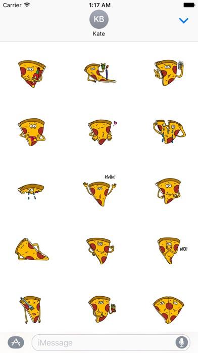 Cute Pizza - PizzaMoji Sticker screenshot 1