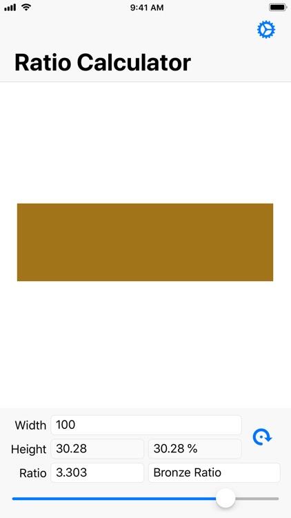 Simple Golden Ratio Calculator
