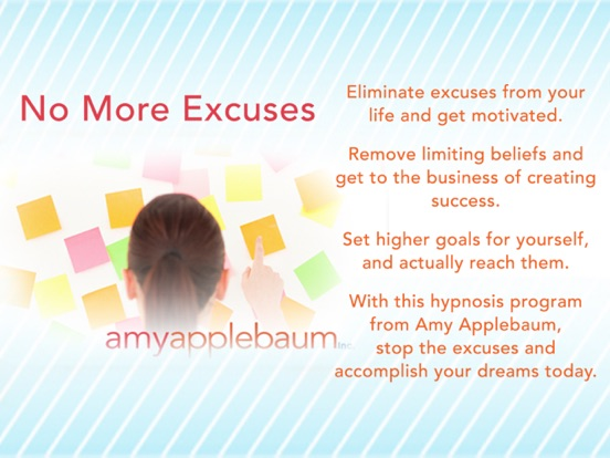 No More Excuses - Get It Done (Self-Hypnosis by Amy Applebaum) screenshot