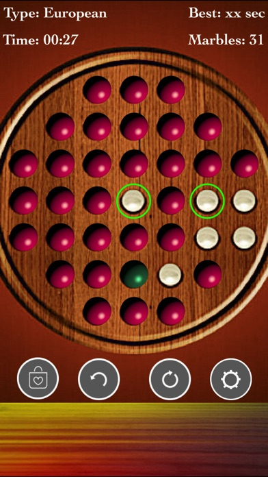Brainvita Marble Solitaire Fun screenshot 1