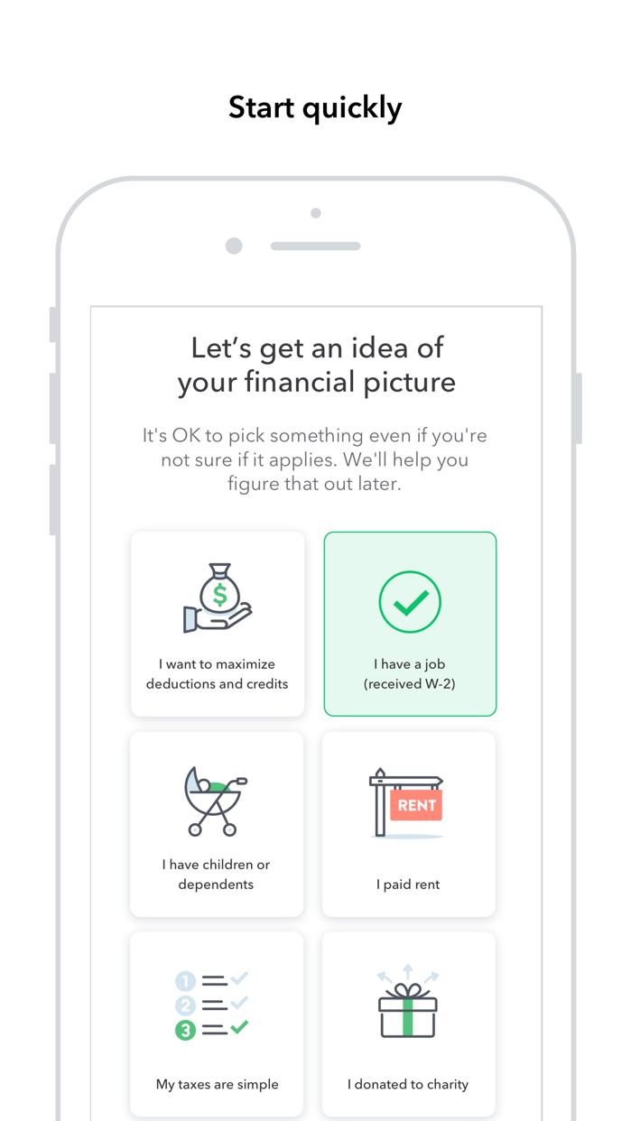TurboTax Tax Return App Screenshot
