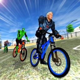 Spider Hero City Bicycle 3D