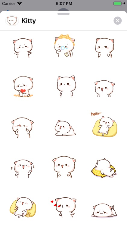 Kitty - Gif Cat Sticker Lovers