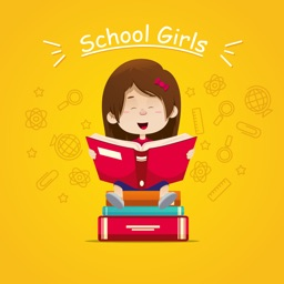 School Girls Stickers
