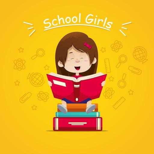 School Girls Stickers