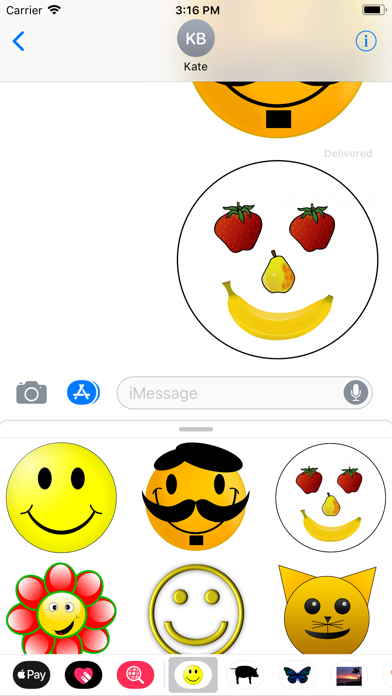 Yellow Smiley Sticker Pack screenshot four