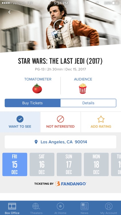 Flixster - Showtimes + Tickets screenshot-2