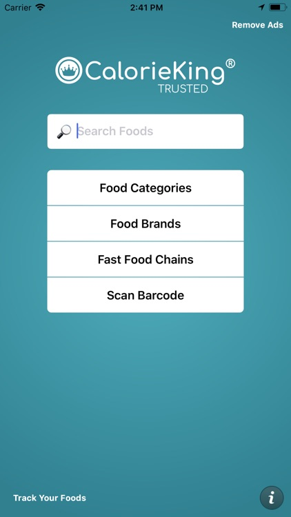 CalorieKing Food Search