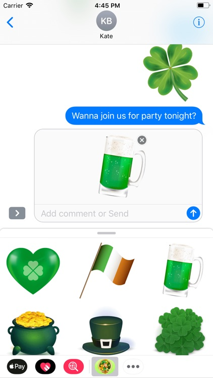 Saint Patrick Wishes Stickers