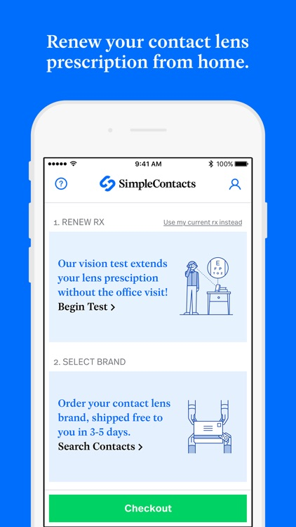 Simple Contacts: Prescriptions