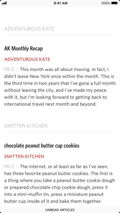 Unread: RSS Reader screenshot one