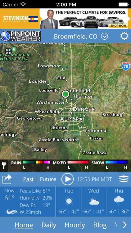 Pinpoint Weather - KDVR & KWGN screenshot-0