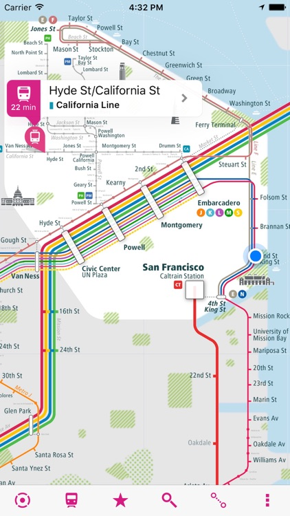 San Francisco Rail Map screenshot-0