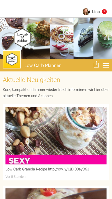 Low Carb Planner screenshot one