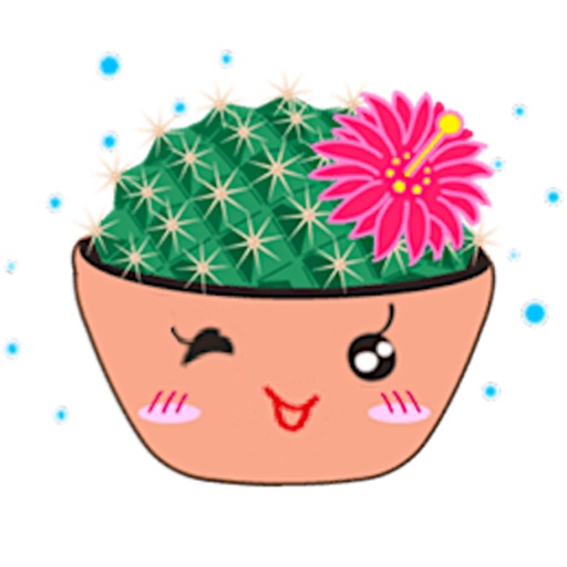 Lovely Cactus Emoji Sticker