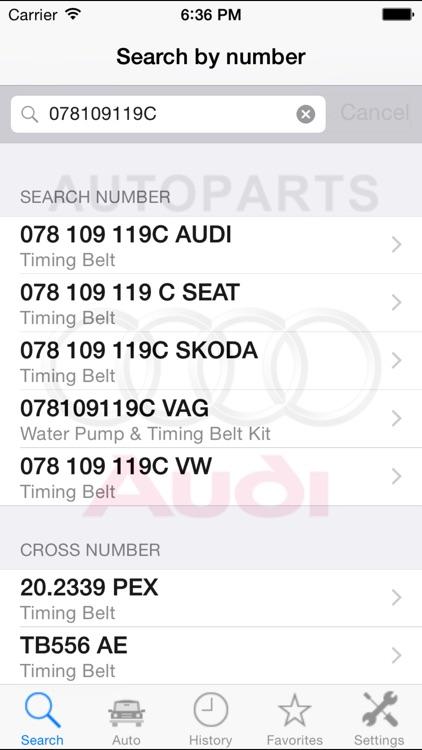 Autoparts for Audi screenshot-4