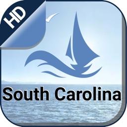 South Carolina nautical offline chart for cruising