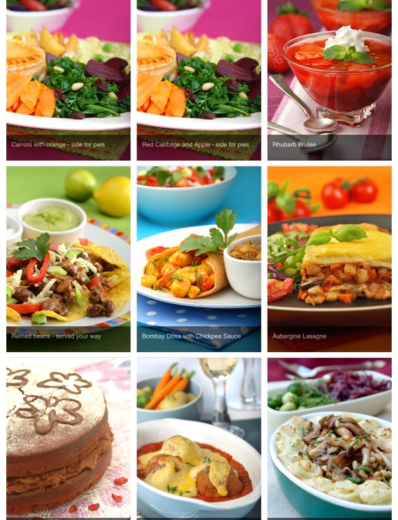 Vegetarian and vegan recipes