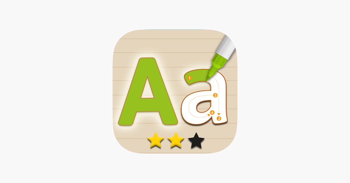 Schreibschrift auf Englisch im App Store