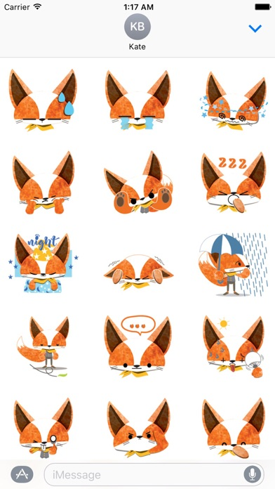Adorable Fox FoxMoji Sticker screenshot 2
