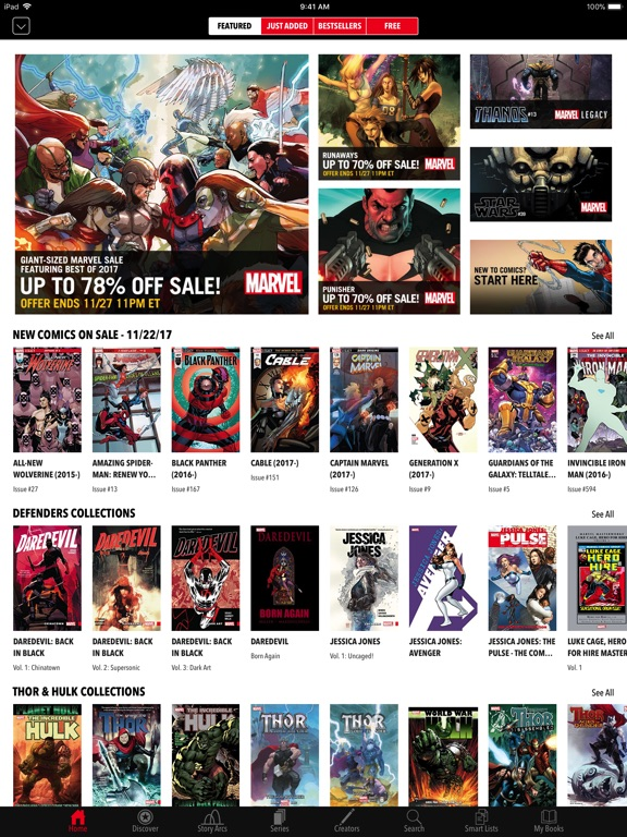 Marvel Comics iPad