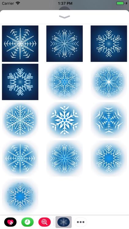 Snowflakes Sticker Pack screenshot-4