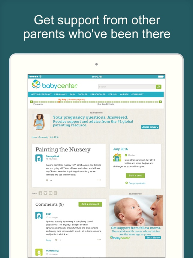 BabyCenter Pregnancy Tracker On The App Store