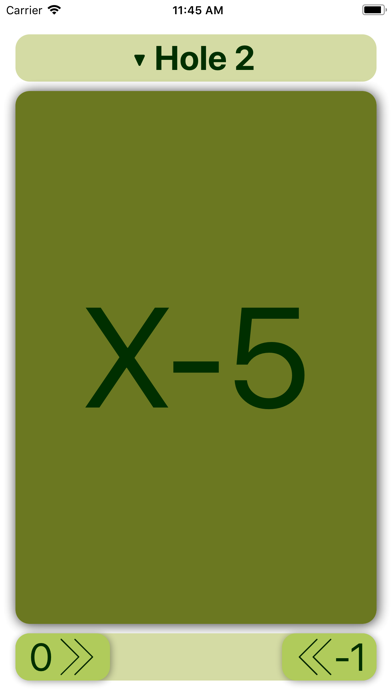 FlinkGolf - Scorecard Screenshots