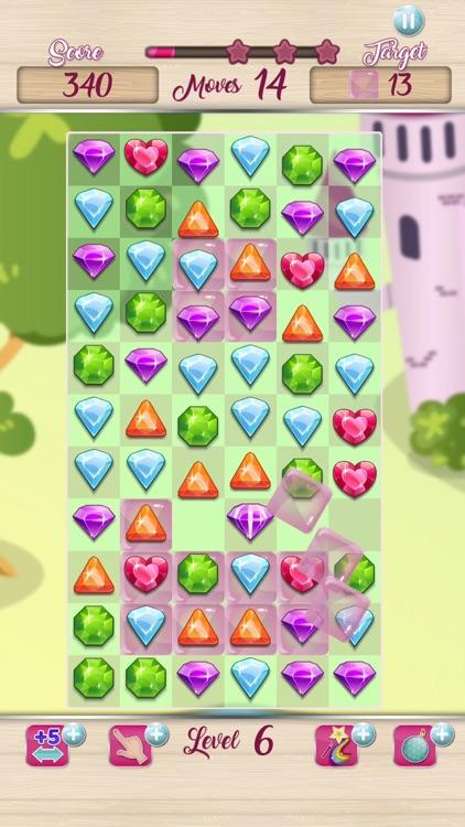 Jewels Princess Crush Mania screenshot-3