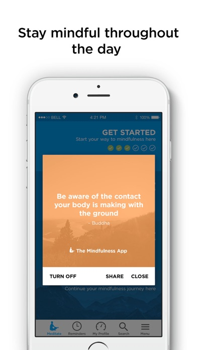 The Mindfulness App review screenshots