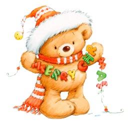 New Year, Christmas Cute Bears