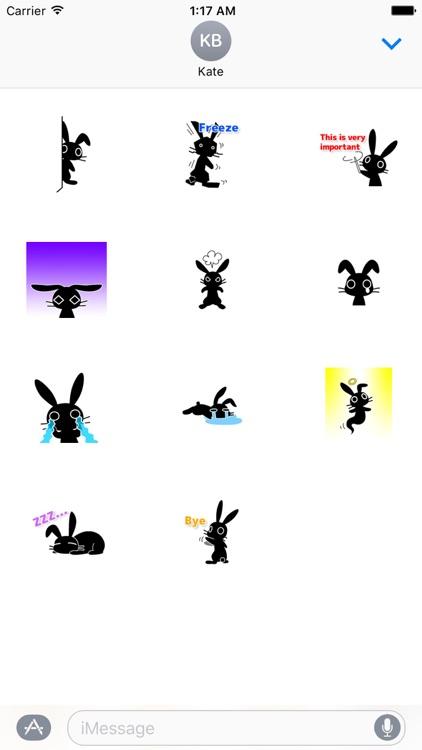 Adorable Black Rabbit Sticker