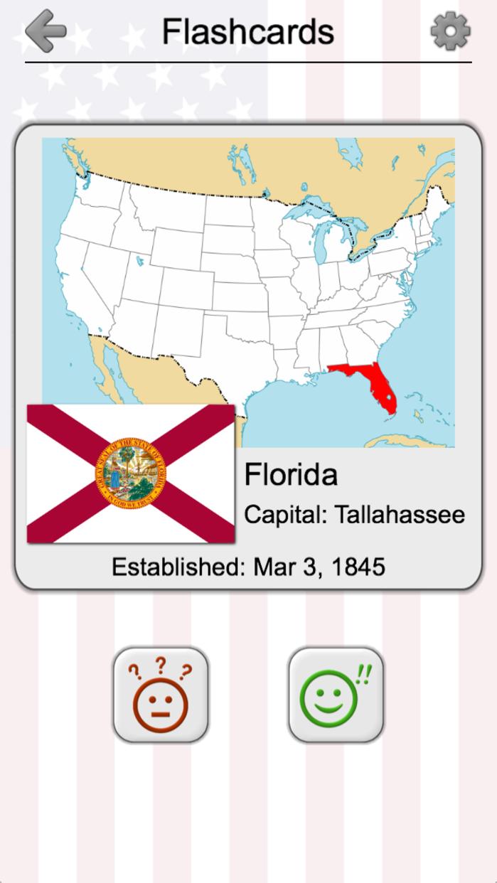 50 US States - American Quiz Screenshot