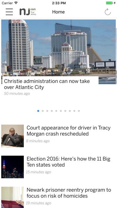 NJ.com Screenshot on iOS