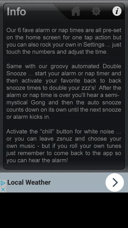 zsnuz snooze alarm + nap timer screenshot-3