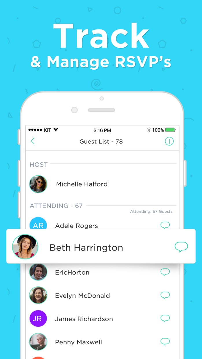 Hobnob Invitations & Text RSVP Screenshot