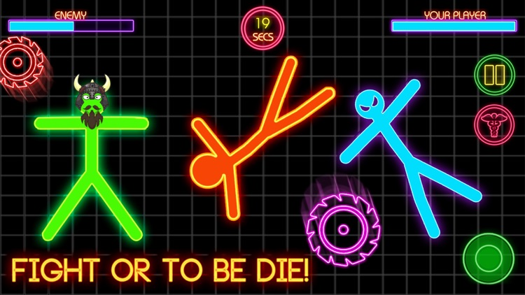 Stickman War Lightsaber Games screenshot-3