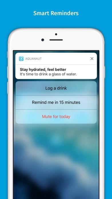 Aquanaut – daily water tracker app image
