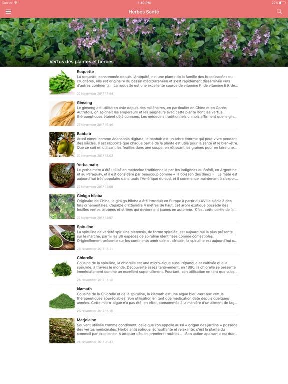 Screenshot #6 pour Aliments Santé