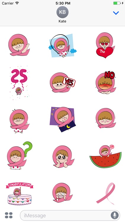 Pink Ribbon iSticker Pinky
