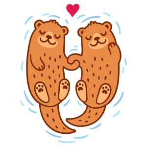 Lovely Otter Friends app