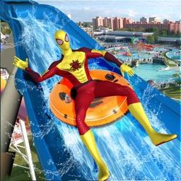 Water Slide Superhero Game