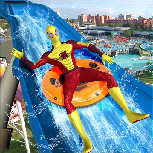 Вода Slide Superhero Игра