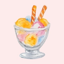 Watercolor Yummy Ice Cream