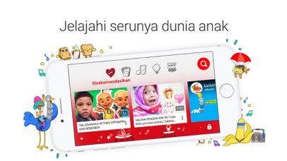 Screenshot for YouTube Kids in Indonesia App Store