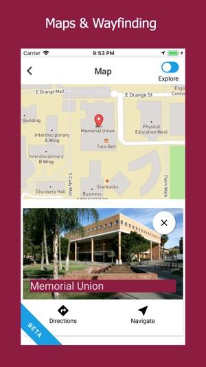 Arizona State University Tempe Campus Map.Arizona State University On The App Store