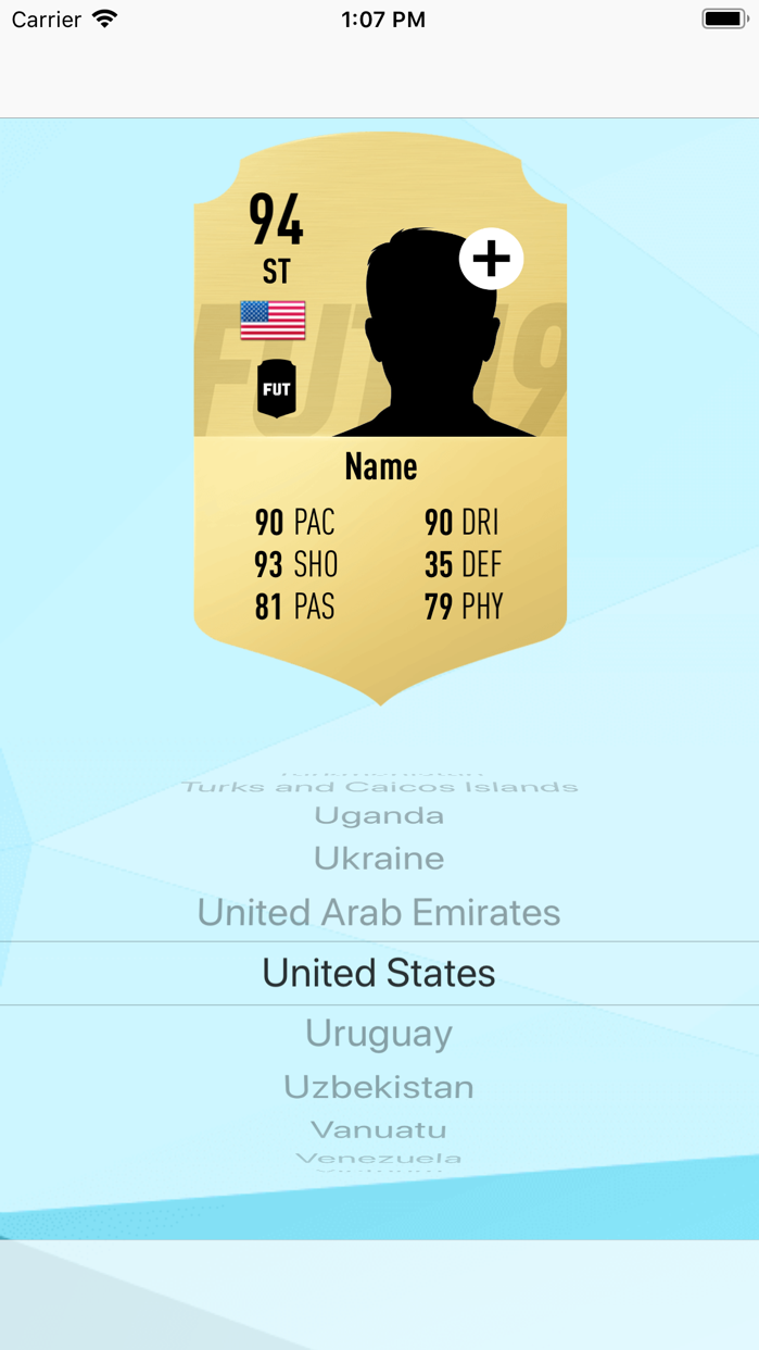 FUT Card Creator 19 Screenshot