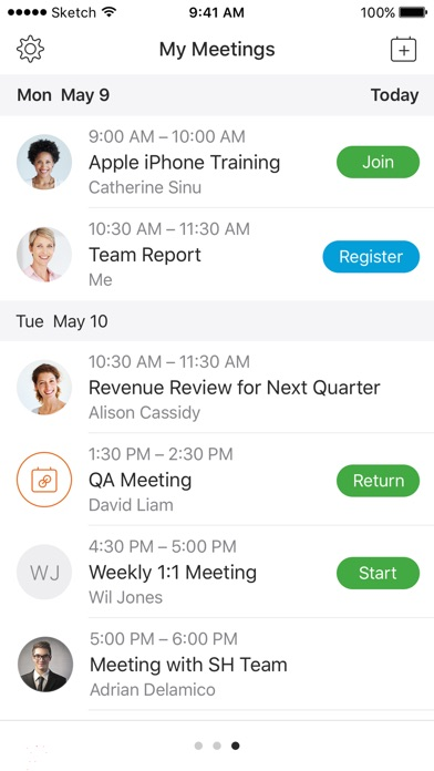 Cisco Webex Meetings review screenshots