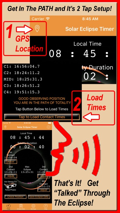 Solar Eclipse Timer app image