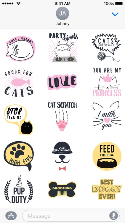Pets Rule! Stickers